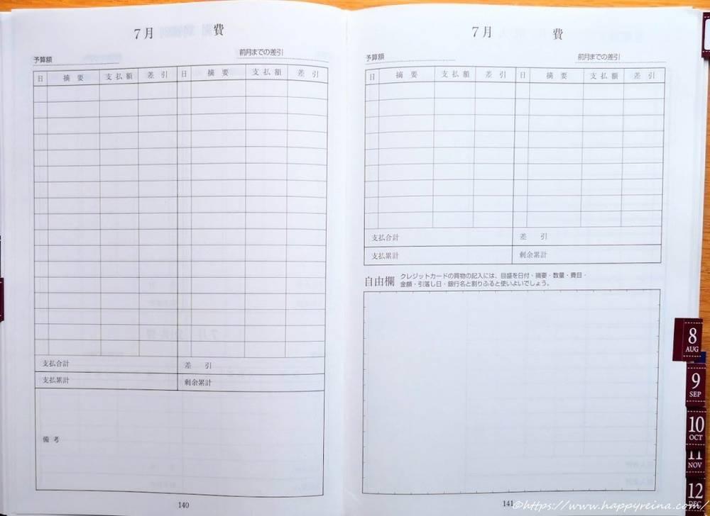空欄二つのページ