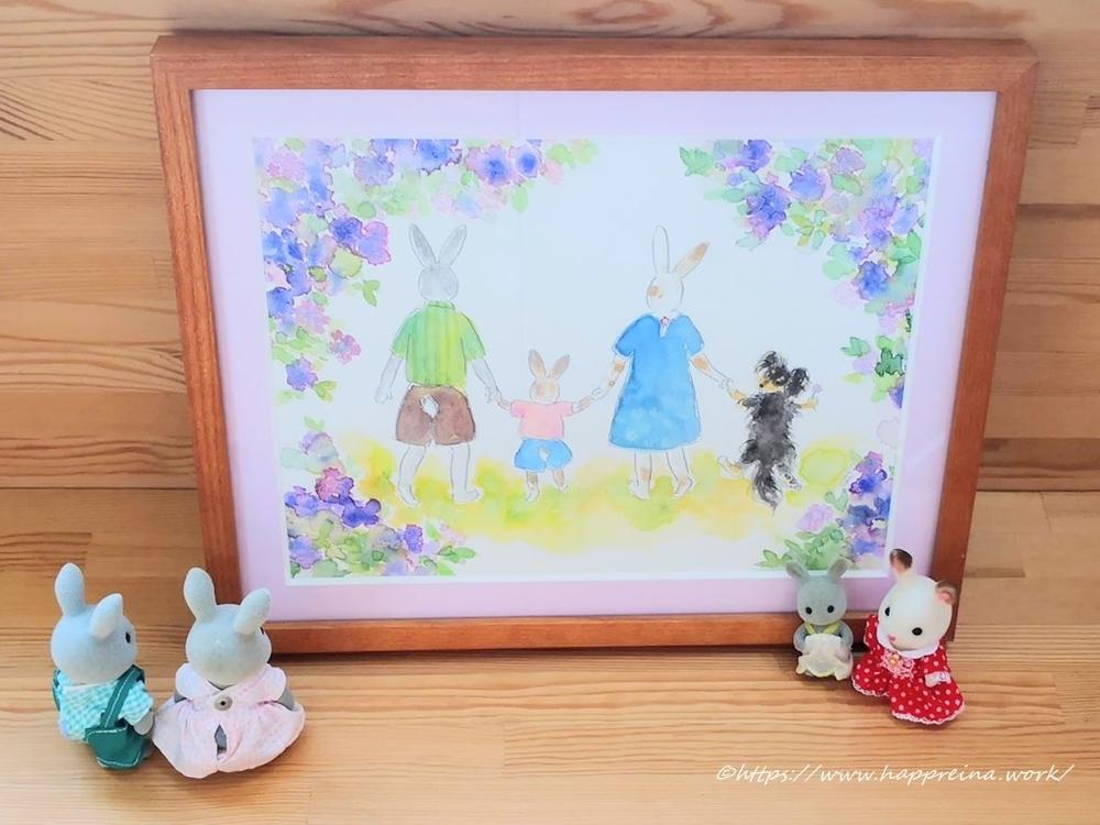 永富月来子イラストウサギ原画