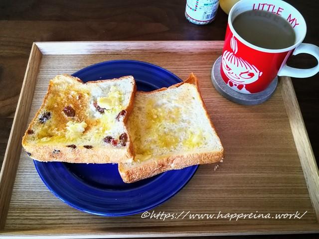食パンをトーストした写真です