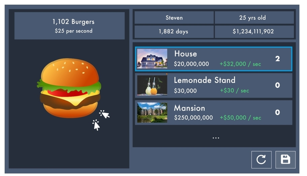 Recursionのプロジェクトゲームをつくる画面の画像です