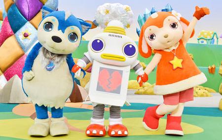 おかあさんといっしょ個性的なキャラクターのガラピコぷ3人の友情