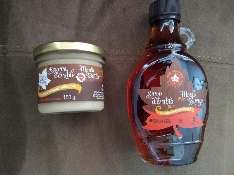 メイプル シロップとメイプル バター