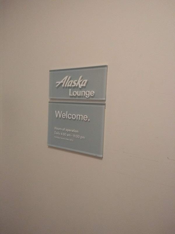 ロサンゼルス空港のアラスカ航空ラウンジ