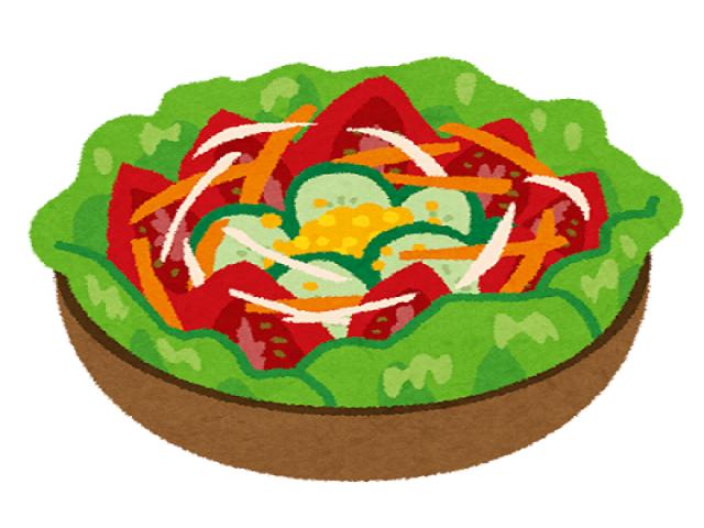 野菜たっぷりのサラダです。