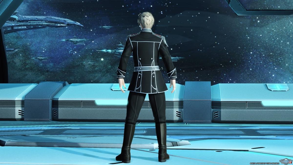 銀河帝国軍服Mの後ろ