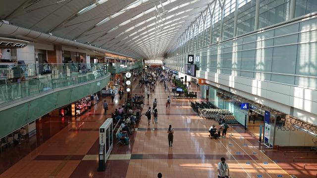 羽田空港第2ターミナルの様子