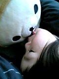クマにキス