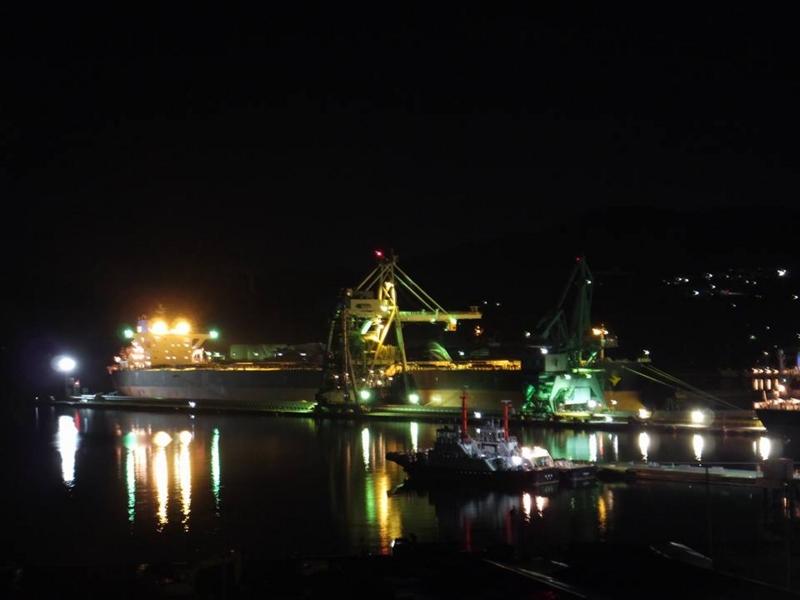 釜石・釜石港・夜景