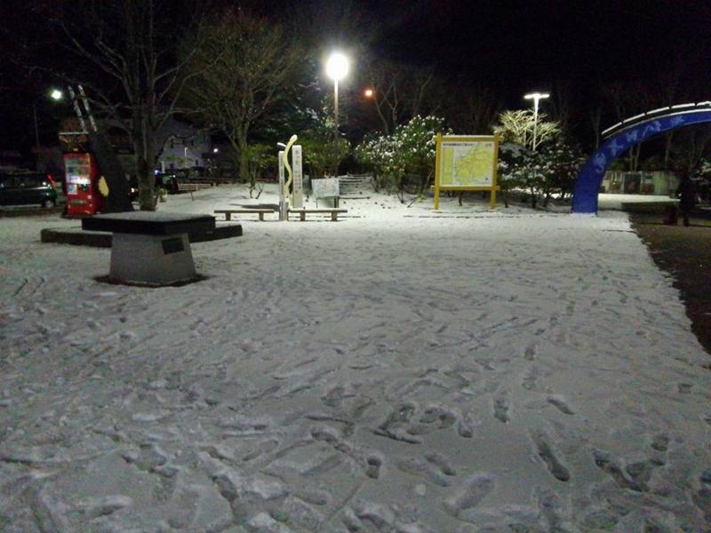 JR新花巻駅・積雪