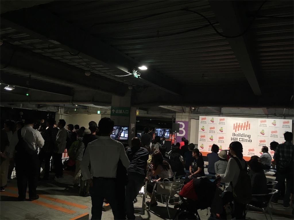 東京ダイバーシティビルクライムの会場