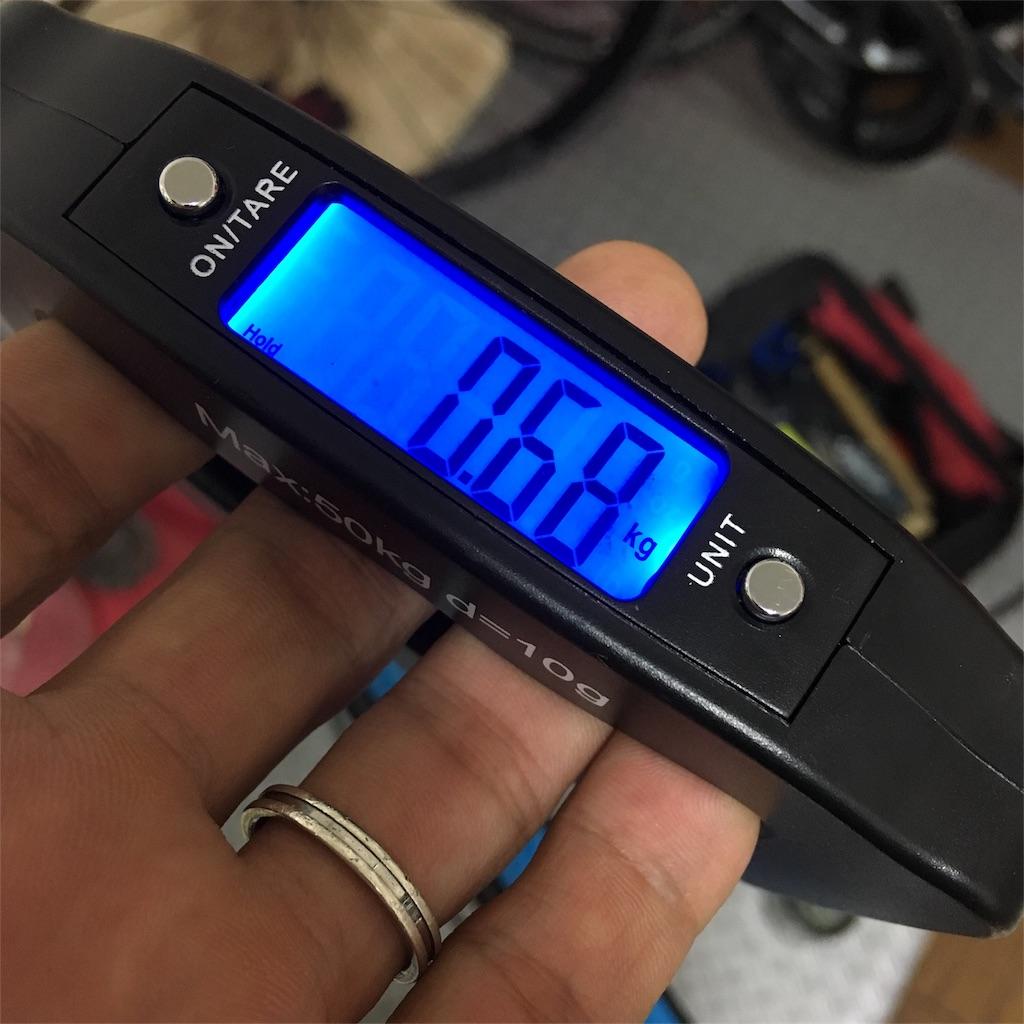 Primeホイールのフロント実測重量