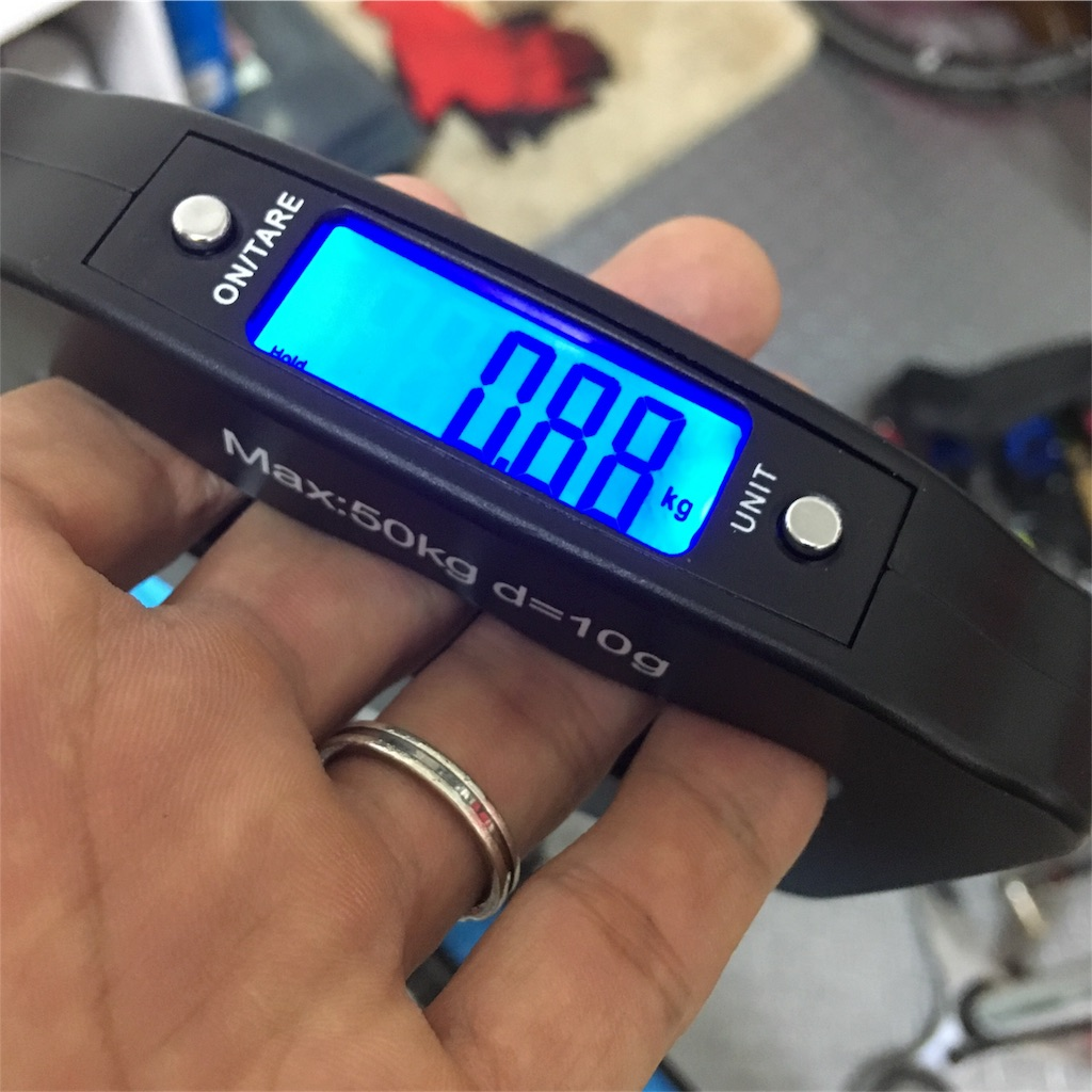 Primeホイールのリア実測重量