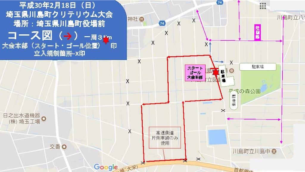 川島町クリテコース図