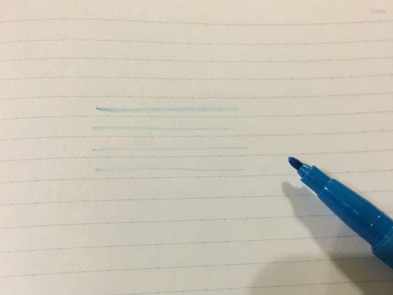 かすれたインクの線