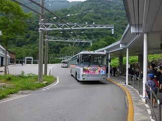 関電トロリーバス(扇沢駅)