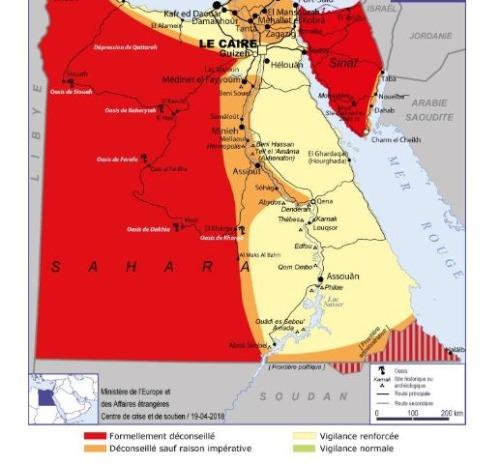 フランス政府発表・エジプトの治安情報