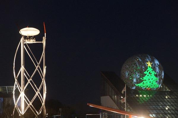 futuroscopeの夜のイルミネーション