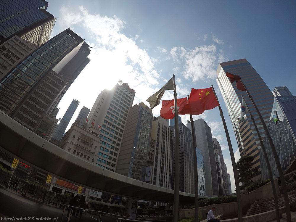 香港島の高層ビル