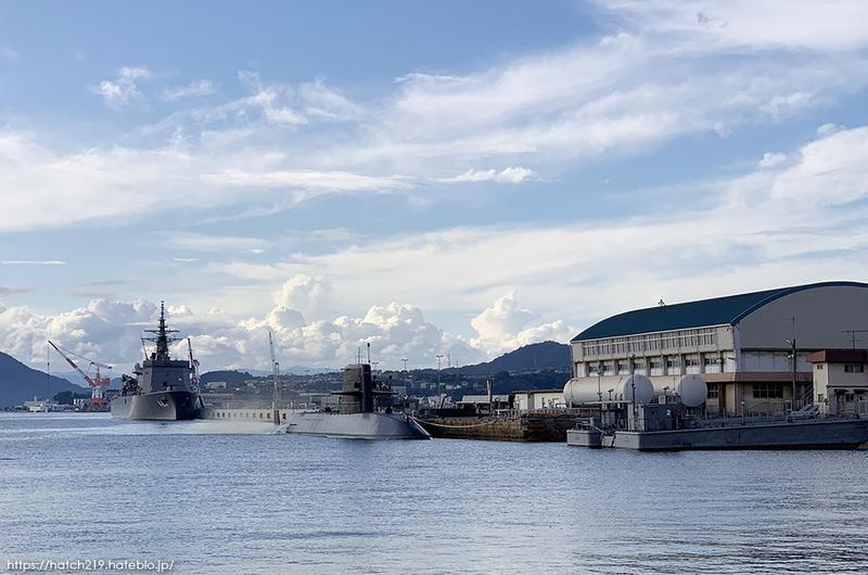 海上自衛隊呉基地の潜水艦