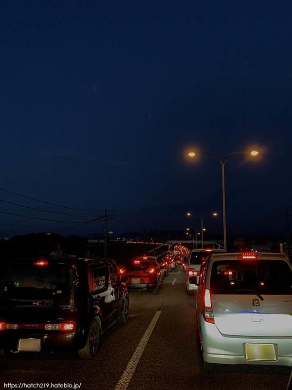 バルーンフェスタの渋滞