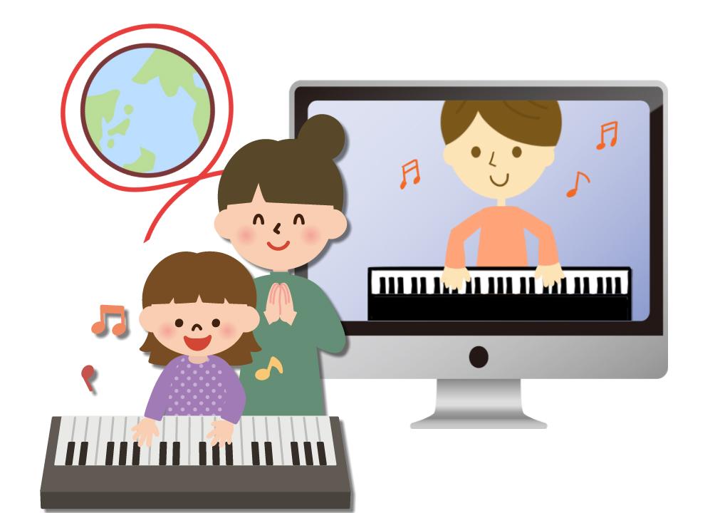 ピアノオンラインレッスンのイメージ