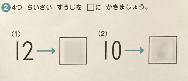 七田式プリントBかず