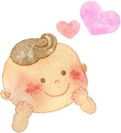 ベビーサインをしている赤ちゃんのイメージ