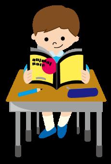 プリント学習している男の子のイメージ