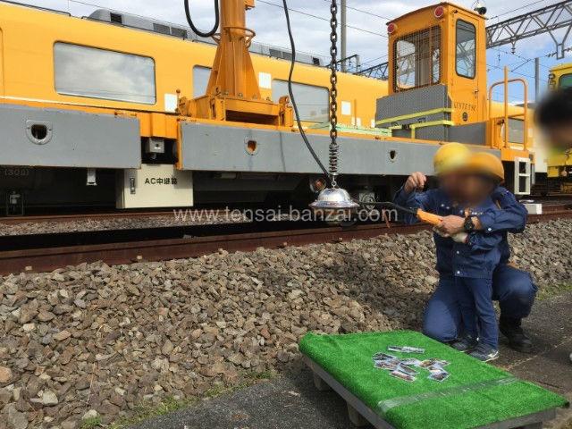 近鉄鉄道まつり2018保線機械でUFOキャッチャー
