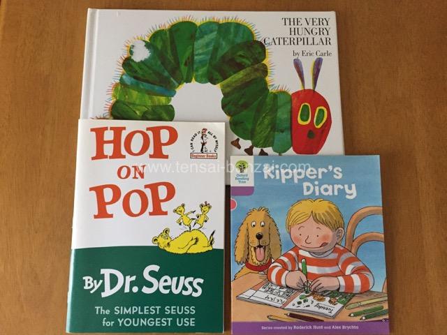 上>エリックカールの絵本 下左>Dr. Seuss 下右>ORT