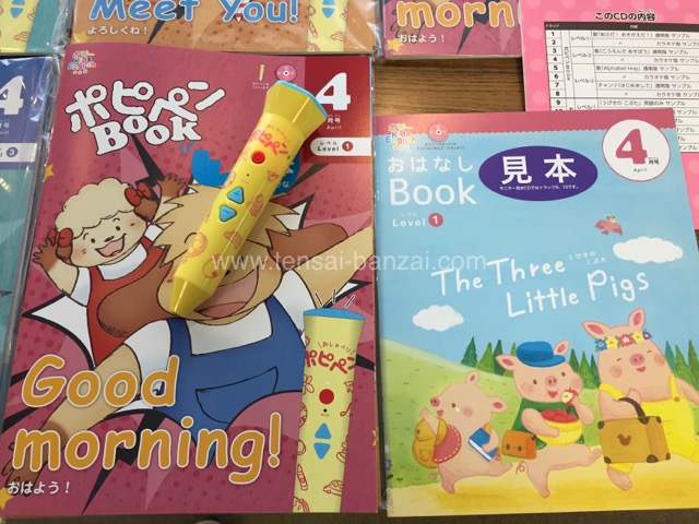 ポピー Kids English レベル1見本