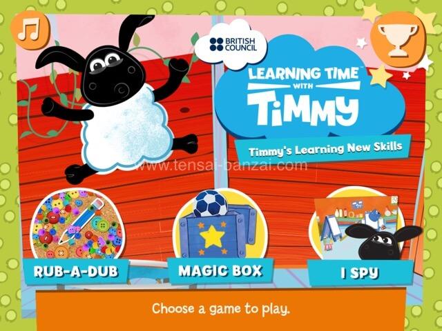 幼児・子供向け無料英語学習アプリBritish Council【Learning Time with Timmy】スクショ