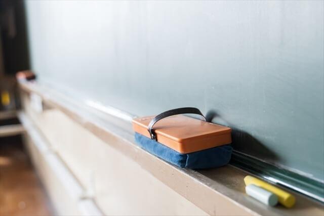休み時間(黒板と黒板消しのイメージ)