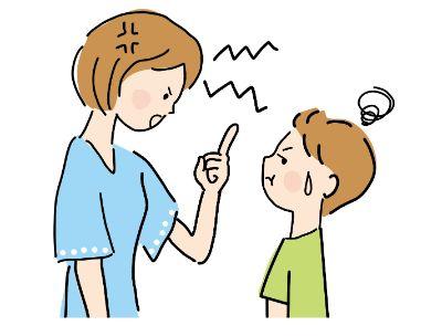 ガミガミ言っている母親のイメージ