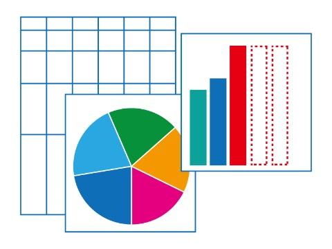 成績のグラフイメージ