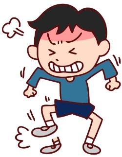 癇癪をおこす男の子イメージ
