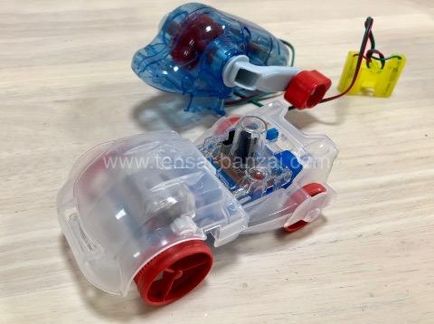 実験教室のモーターで走る車