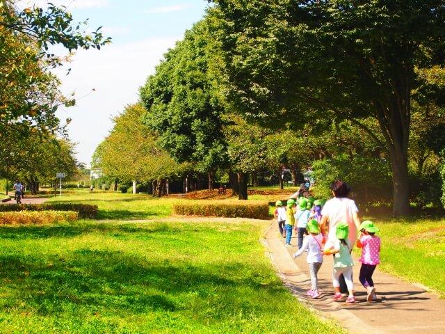 保育園の散歩