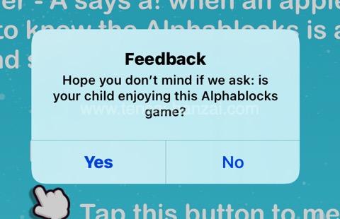 フォニックスアプリAlphablocks 「Feedback」