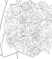 これが使いまわすべく頑張って描いたバラです