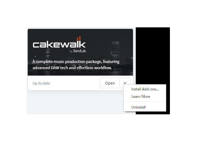 Cakewalk by BandLab 】アドオンのインストール方法と起動方法