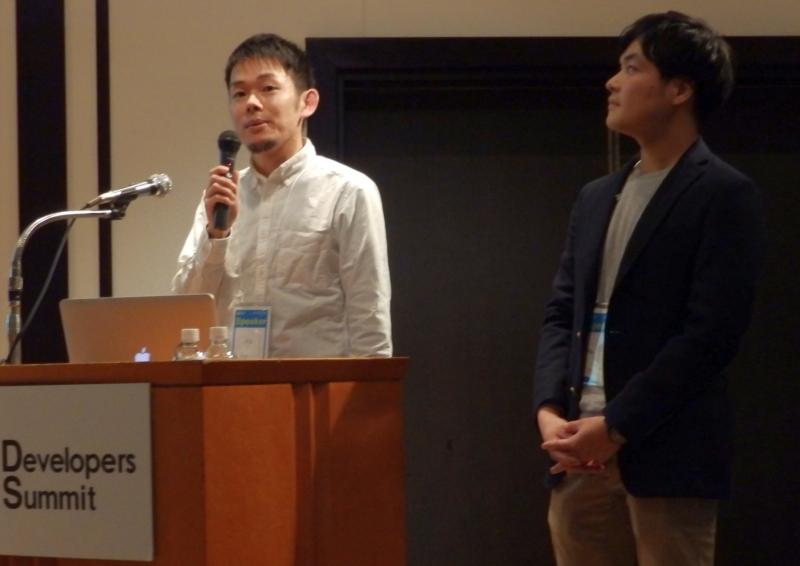 発表者近影(下林と矢野氏)