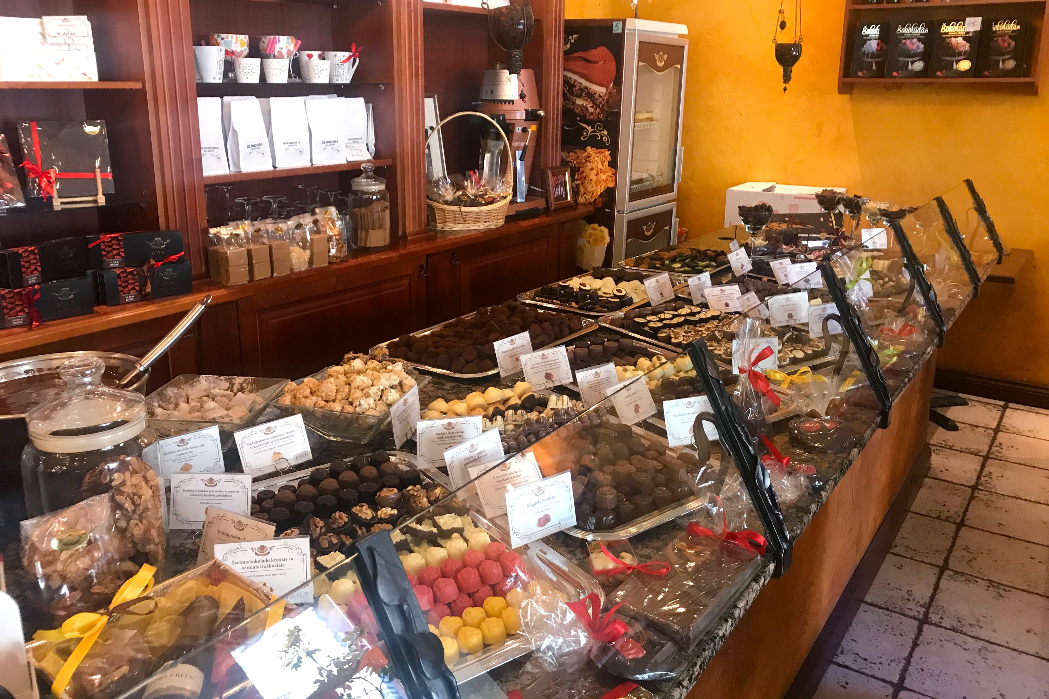 リトアニアの美しいチョコレートショップ