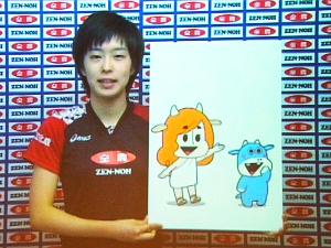 石川佳純選手のメッセージ