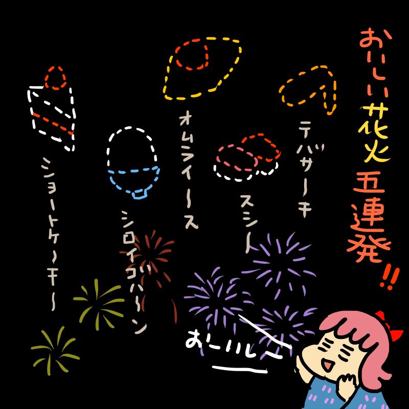 おいしい花火!