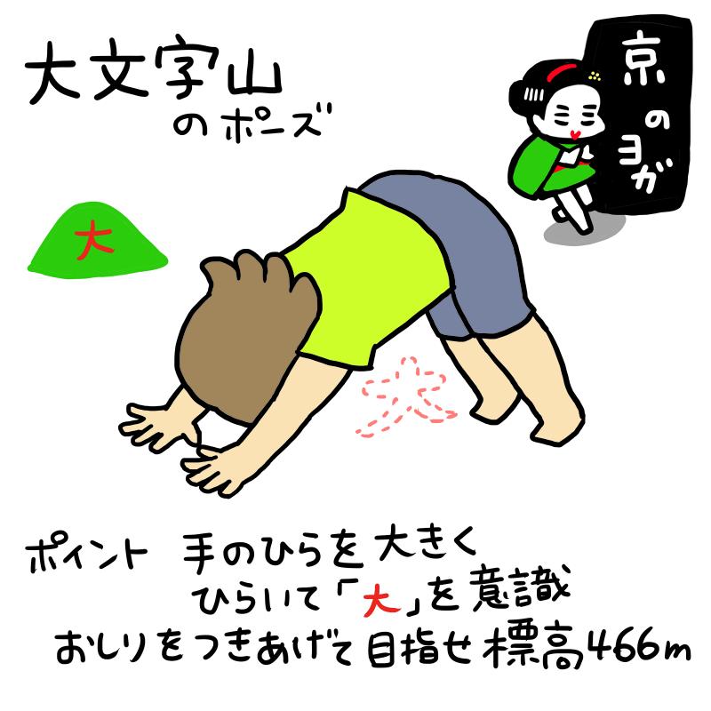京のヨガ:大文字山のポーズ
