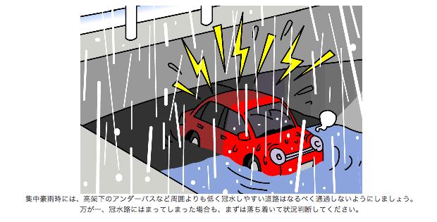 JAF|クルマ何でも質問箱:事故・違反・トラブル防止術|クルマが冠水・浸水してしまったら?