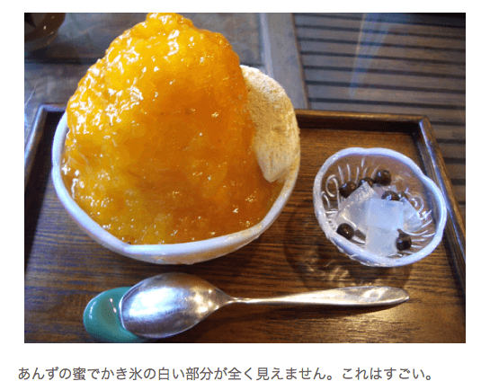 京都出町柳の甘味処みつばちで濃厚な「あんず氷」を食べてきた|sweet music blog
