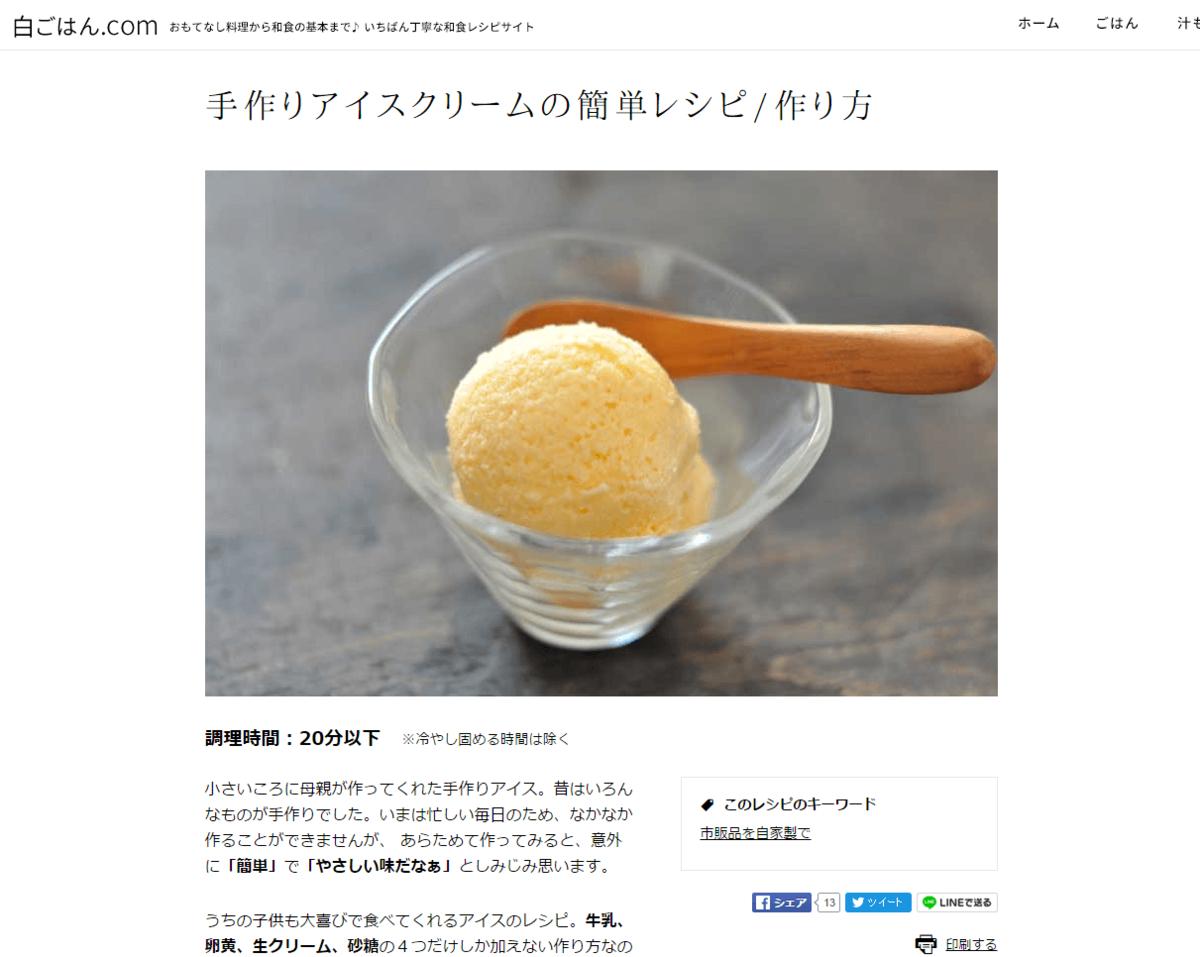 手作りアイスクリームの簡単レシピ/作り方:白ごはん.com