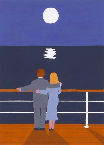 和田誠 「中国行きのスロウ・ボート」『村上ソングズ』(中央公論新社)より 2005年 個人蔵